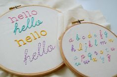 Let your hand embroidery speak for you! Learn how to stitch letters in four decorative ways.: