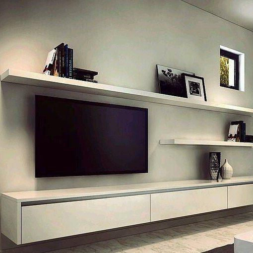 Stylish Diy Floating Shelves Wall Shelves Easy Living Room Tv Wall Floating Entertainment Unit Living Room Tv