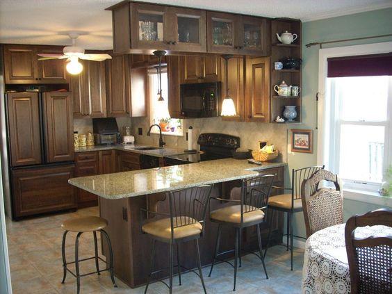 Peninsula wall cabinets & Decora mink cherry cabinets.   Kitchen ...