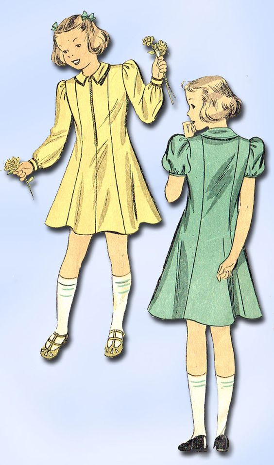 1930s Vintage Du Barry Sewing Pattern 1798 Little Girls Princess Dress Size 12