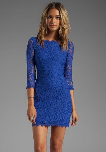 Zarita Dress - Body con- Blue dresses and Diane von furstenberg