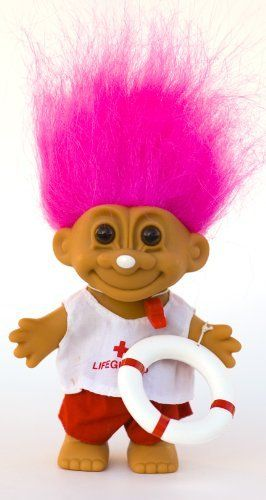 "My Lucky LIFEGUARD Troll Doll (Pink Hair). My Lucky LIFEGUARD Troll Doll (Pink Hair). Approx 6"" Tall. Comes w/Lifesaver Ring & Whistle."