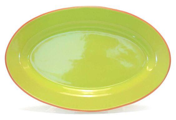 "Baum Essex, Oval Platter, Lime Terracotta 18"" x 11""  $29 - orig. 45"