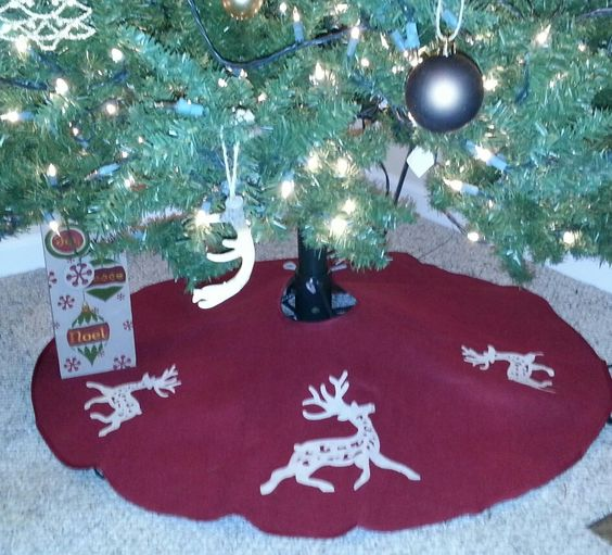 Deer Christmas Tree Skirt To Go With My Outdoor Themed