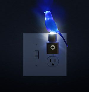 """""""blue canary in the outlet by the lightswitch..."""""""