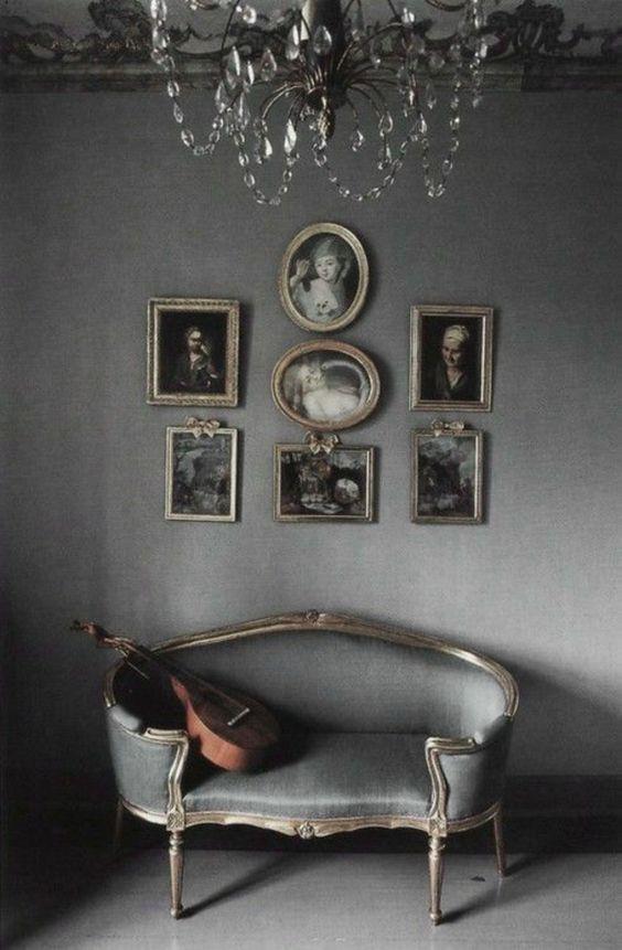 französische landhausmöbel polstermöbel sofa grau                              …