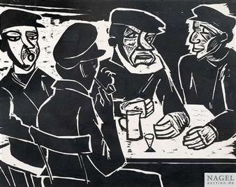 In der Kneipe, Kajüte By Max Pechstein ,1922