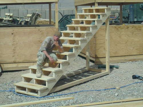 How To Build Free Standing Wooden Steps