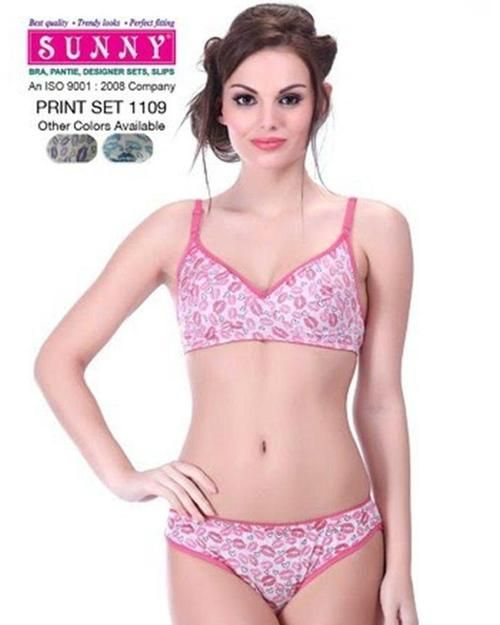 Sunny Print Set 1109 - Bra Panty Set - Bra Panty Sets - diKHAWA