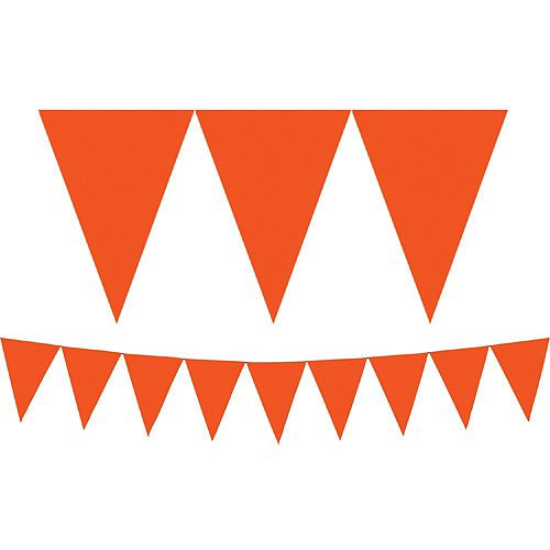Orange Pennant Banner 15ft X 7in Pennant Banners Kids Party Supplies Sports Themed Party
