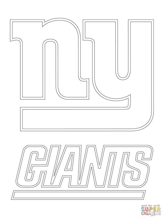 26 Awesome New York Yankees Coloring In 2020 Football Coloring Pages New York Giants Logo New York Giants
