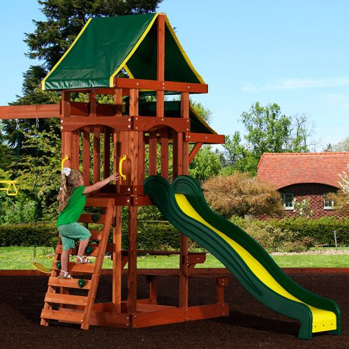 purchase the backyard discovery tucson cedar wooden swing set at an always low price from walmartcom save money live better pinterest wall ladders