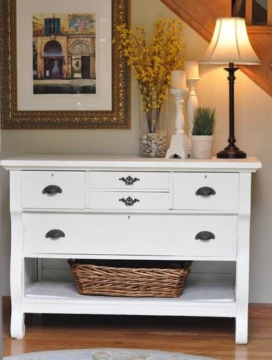 Furniture For Foyer Area : Furniture white shabby chic entry table for