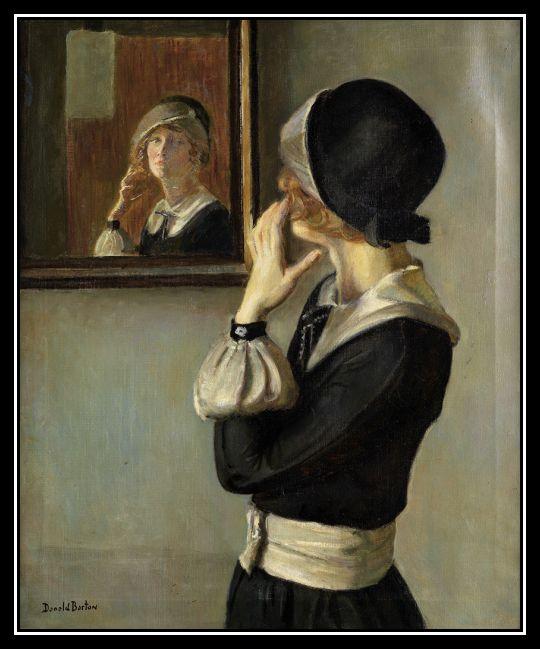 "adhemarpo: ""Donald Blagge Barton 1903-1990 - Le reflet d'une rousse (Reflet Redhead) """