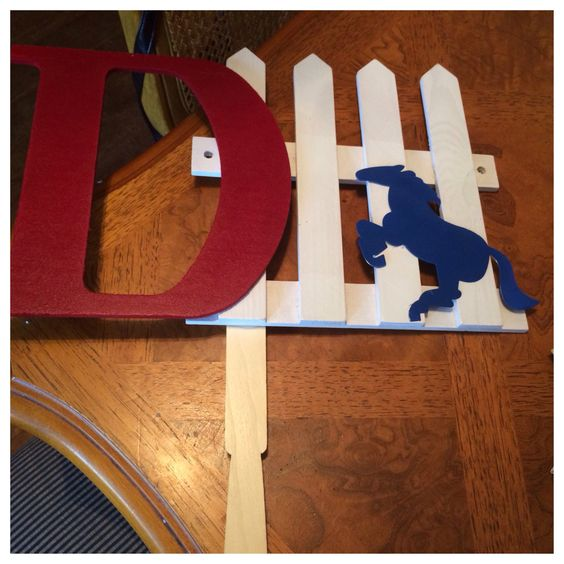 defense sign spray painted wooden letter fence stick purchased at hobby lobby in