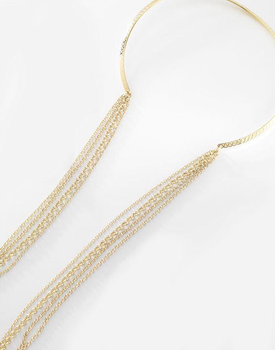 5216a7d500d6 Par de aretes largos con figura de infinito y finas cadenas colgantes