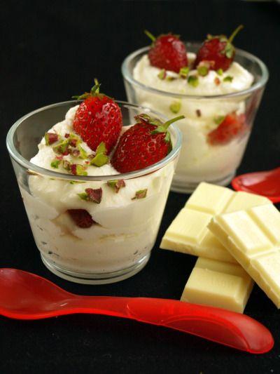 Mousse al cioccolato bianco e yogurt