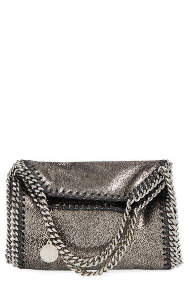 'Tiny Falabella' Metallic (Faux) Leather Crossbody Bag - Stella McCartney