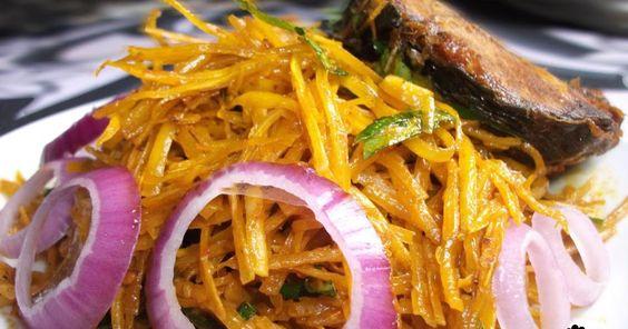 Abacha Ncha/African Salad by Dobbys Signature: Nigerian food blog   Nigerian food recipes   African food blog: Abacha Ncha (African Salad)
