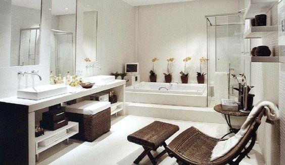 Todo con las flores: decorar, crear, degustar, cuidar...................: Ideas para decorar baños con flores