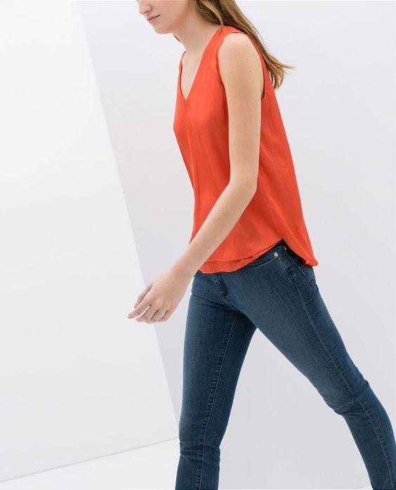 Image 2 of CROSSOVER BACK V-NECK TOP from Zara