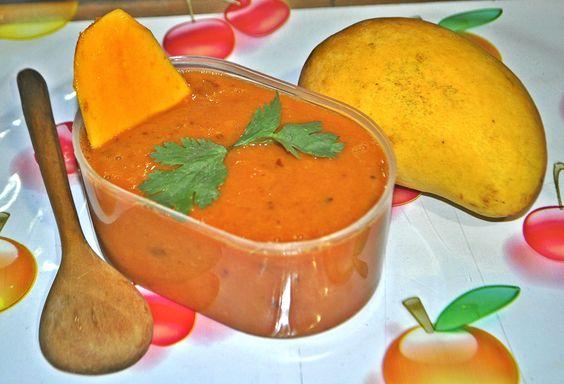 Como hacer Salsa de Mango Picante / Mango Sauce Recipe