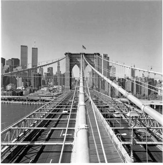 Looking over the Brooklyn Bridge
