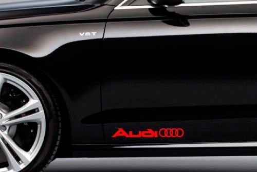 2 Audi Rings Logo Side Trunk Decal Sticker A4 A5 A6 A8 S4 S5 S8 Q5 Q7 Tt Stickers Ring Logo Logo Sticker