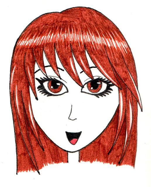 Desenho do Dia #188 - Manga-ish Girl - Soraia Casal