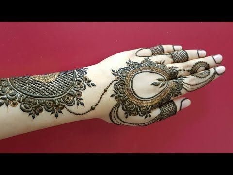 Beautiful And Heavy Henna Design For Backside Modern Dubai Style