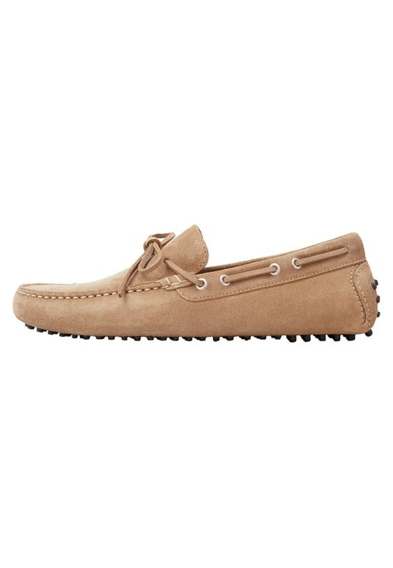 Mango GOMET Mokassin sand Schuhe bei Zalando.de | Obermaterial: Veloursleder, Innenmaterial: Leder, Sohle: Kunststoff, Decksohle: Leder | Schuhe jetzt versandkostenfrei bei Zalando.de bestellen!