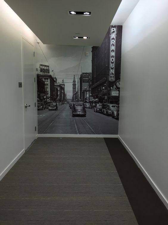 Wallpaper photo in hallway wall