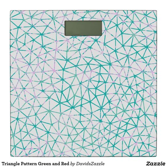 Triangle Pattern Green and Red Scale  #geometric #red #green #teal #pink #triangle #pattern #print #abstract #art #line #digital #paper #ink #hand #drawn #hip #modern #style #life #lifestyle #chic #buy #sale #zazzle #interior #design #home #decor #apartment #college #dorm #student