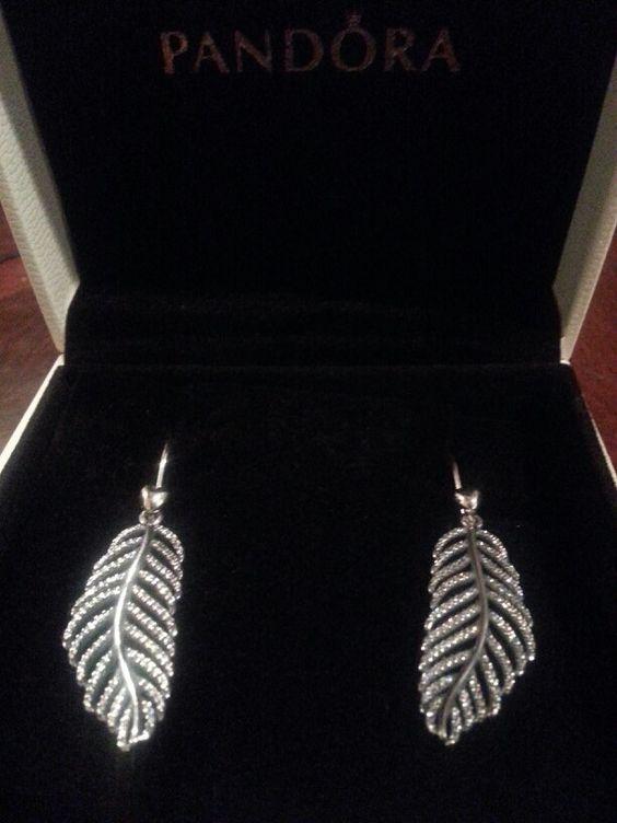 My new Pandora earrings. Thanks to ny hubby