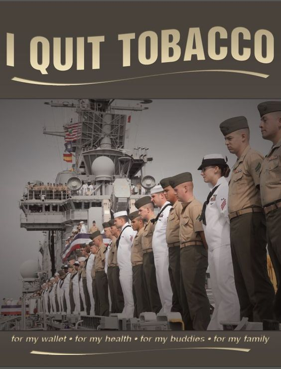 Help your Sailors and Marines with their New Year's resolutions to quit tobacco and stay #TobaccoFree!  #quitfor2016