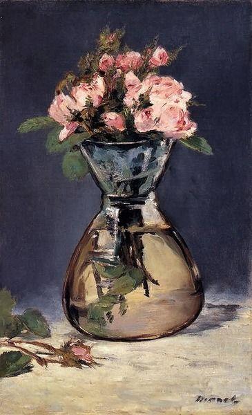 Eduard Manet - Jarrón con rosas, 1882: