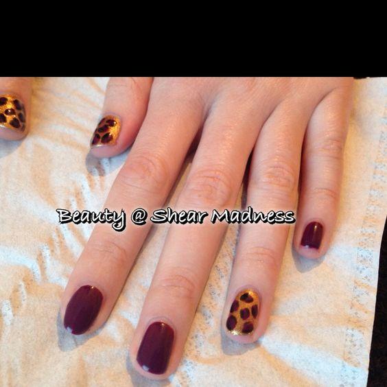 Maniq redwood 101 with gold leopard print design nails by shear maniq redwood 101 with gold leopard print design prinsesfo Gallery