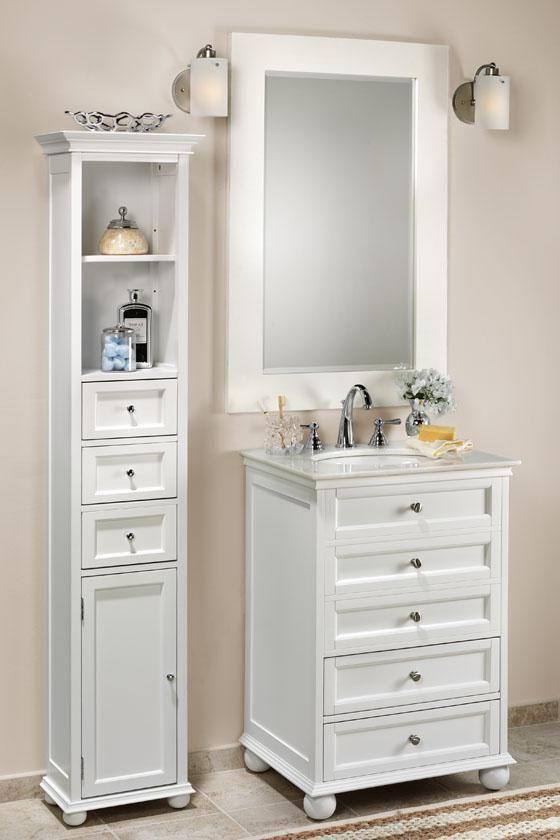Hampton bay 22 w standard linen cabinet linen cabinets for Decoration armoire salon