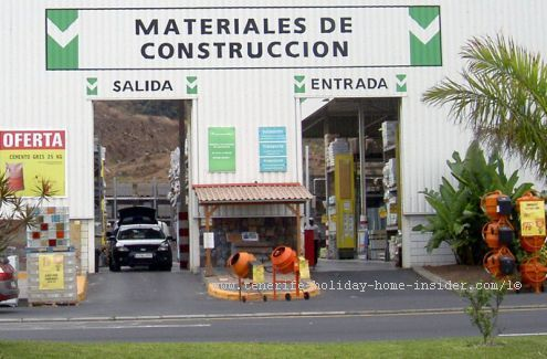 Drive In Store For Construction Materials Of Leroy Merlin La Orotava Construction Materials Tenerife Garden Architecture