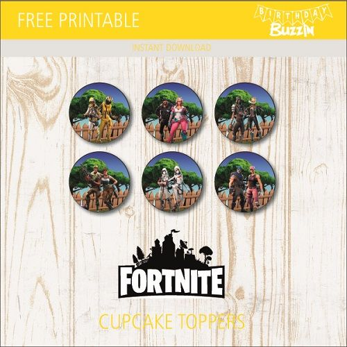 Free Printable Fortnite Cupcake Toppers Cupcake Toppers