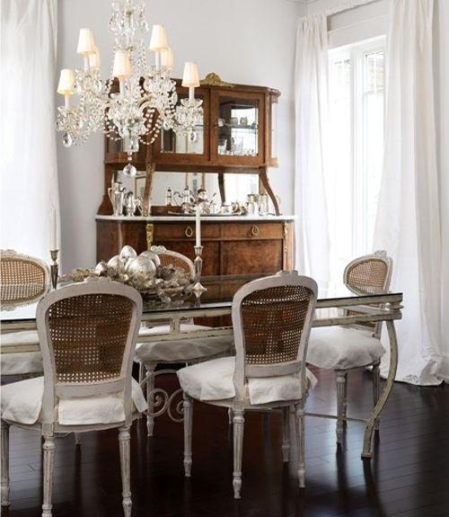 Table, Hutch, paint, drapes
