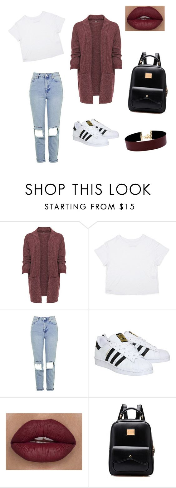 """Untitled #277"" by tavarezstyles8 ❤ liked on Polyvore featuring WearAll, Topshop, adidas and Vanessa Mooney"