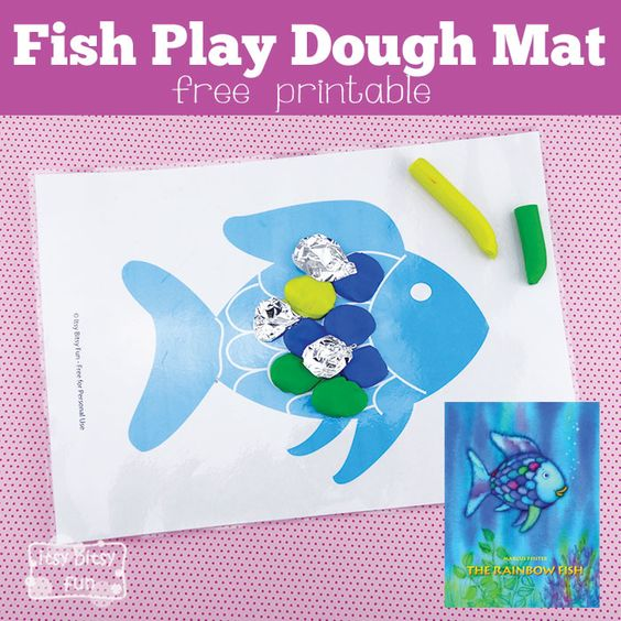 Fish Playdough Mat Perfect for The Rainbow Fish The