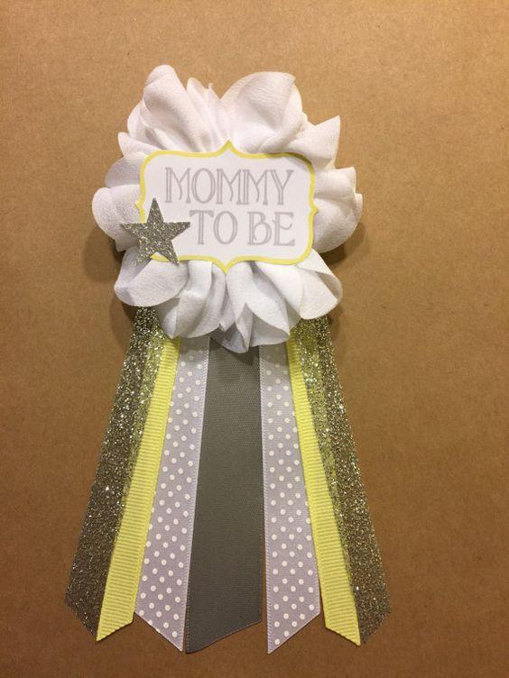 Twinkle Little Star amarillo plata Baby Shower por afalasca en Etsy