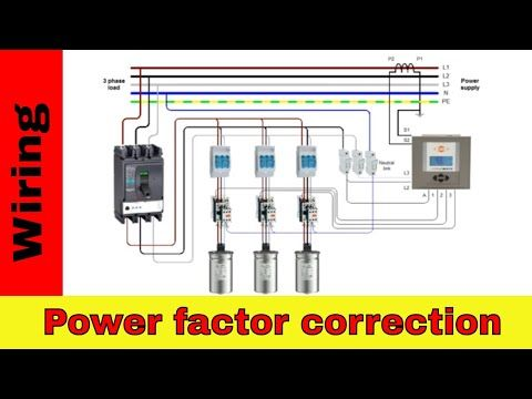 How To Wire Power Factor Correction Panel Youtube Electrical Circuit Diagram Power Circuit Diagram