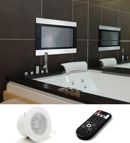 Bathroom Tv Yes Please Tv In Bathroom Bathroom Plans Home Theater Installation