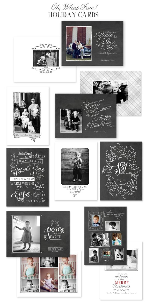 Oh What Fun! Christmas Card Templates by Jamie Schultz Designs