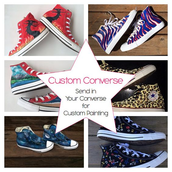 Custom Painted Converse Send Your Shoes to Be by IntellexualDesign