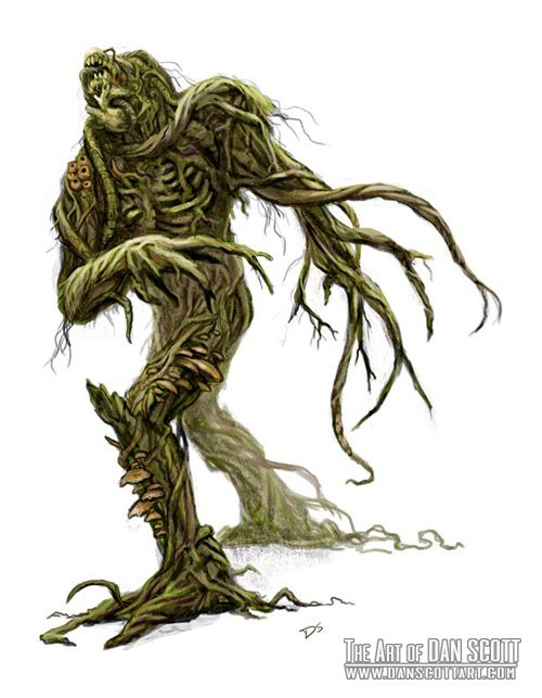 Monster Humanoid Plant Battle Raxeswar Rpg Ideas