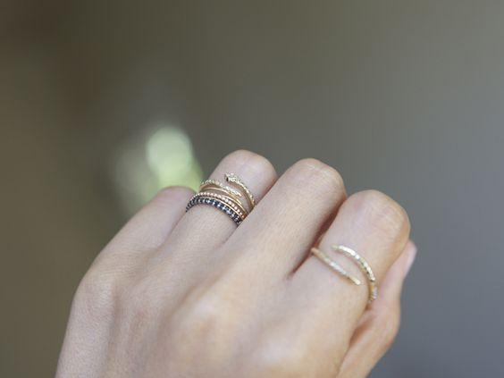 tiny rings. yes.